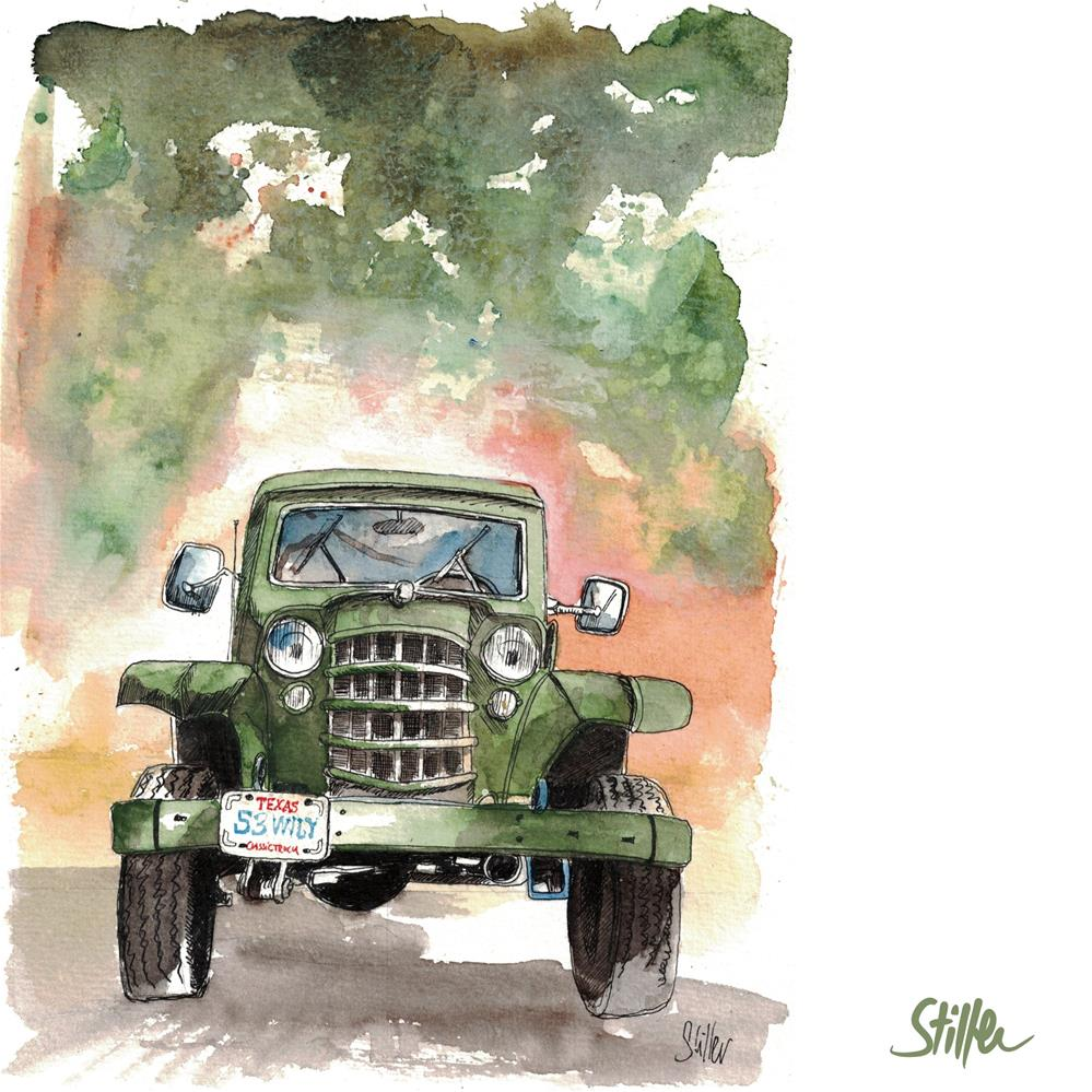 """""""3580 Willys"""" original fine art by Dietmar Stiller"""