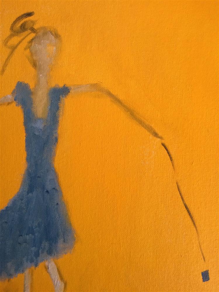 """""""I'm so blue...yo yo is me...."""" original fine art by pamela kish"""