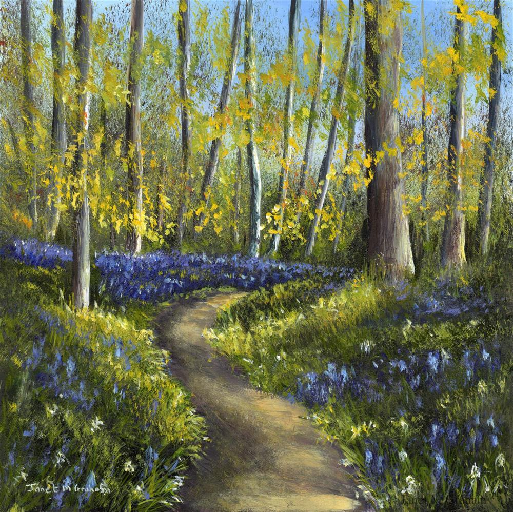 """Bluebell Woods No 3"" original fine art by Janet Graham"