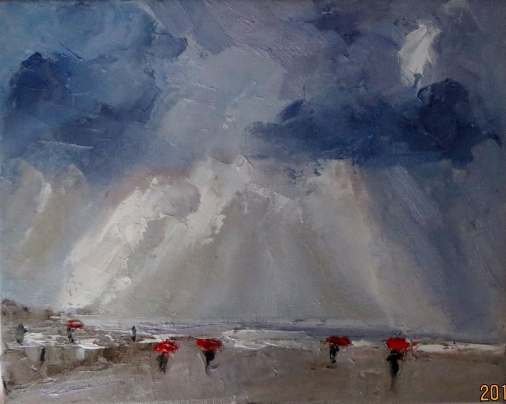 """Thunderstorm"" original fine art by Astrid Buchhammer"