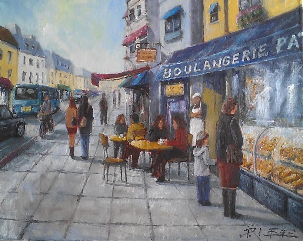 """Morning In Paris"" original fine art by Peter Lee"