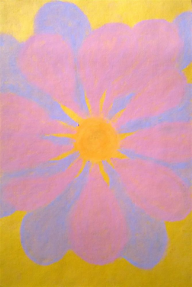 """""""Sun Flower"""" original fine art by Adéla Svobodová"""