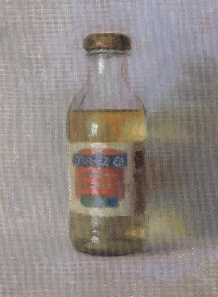 """tea"" original fine art by Yuehua He"