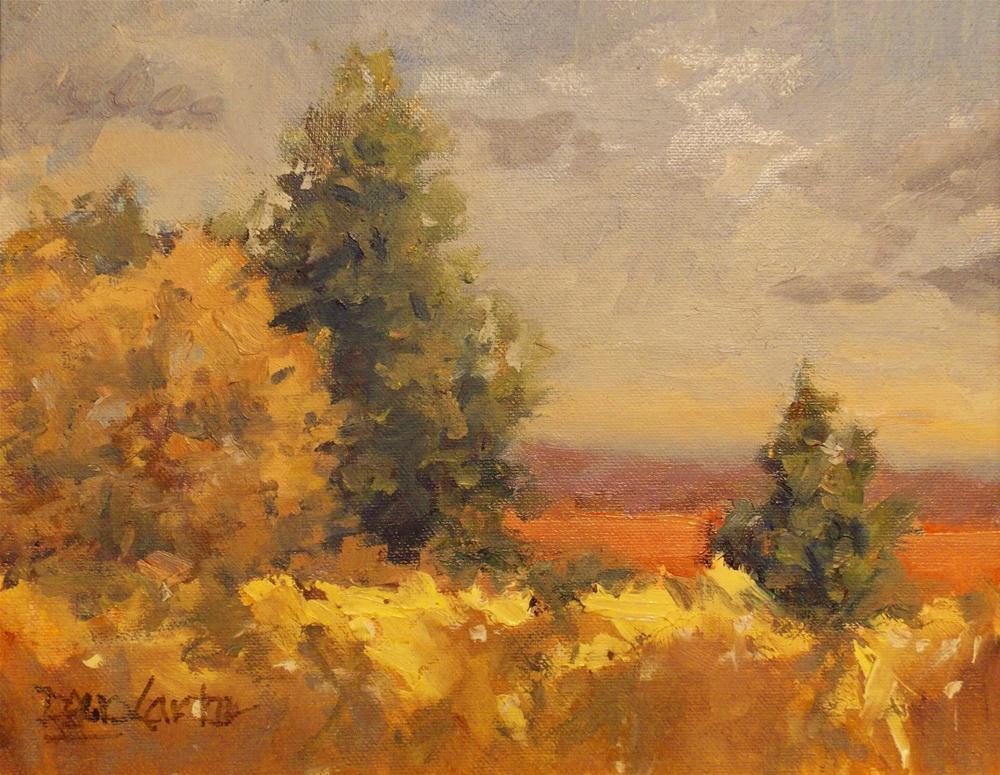 """ Yellow and Green "" original fine art by Doug Carter"