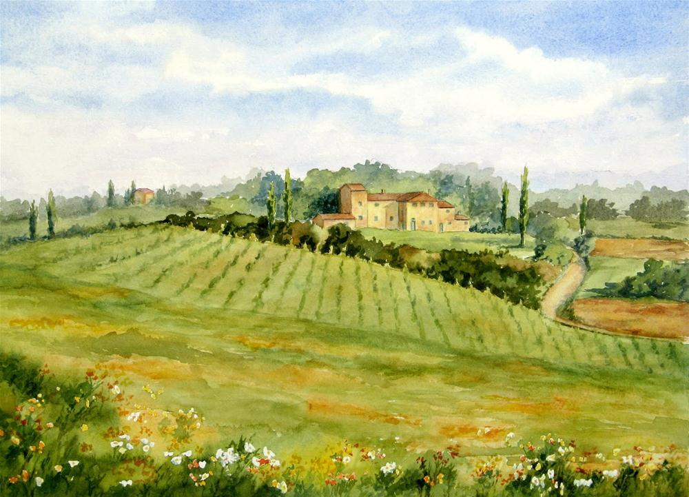 """Chianti Hillside"" original fine art by Vikki Bouffard"