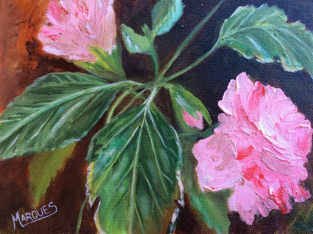 """Outside my window"" original fine art by Kathy Marques"
