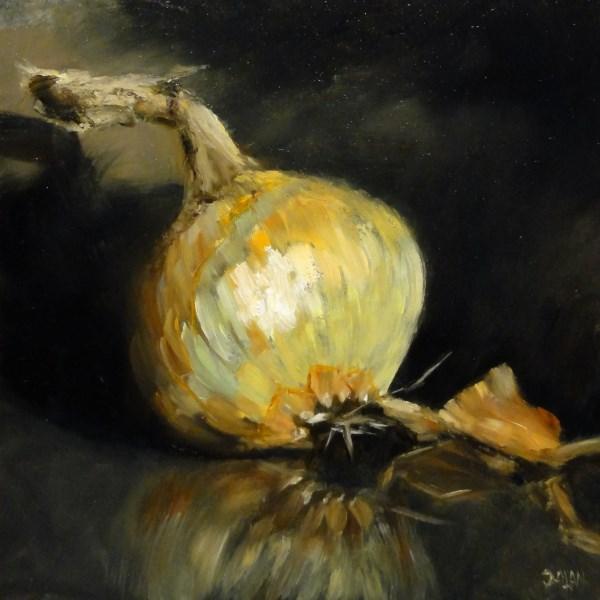 """Onion"" original fine art by Dalan Wells"