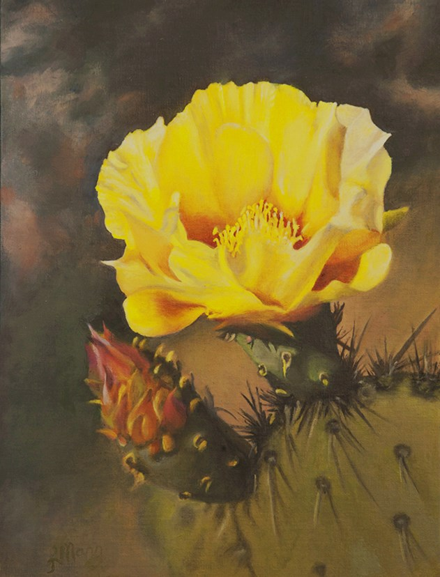 """Pear Blossom"" original fine art by Linda Mann"