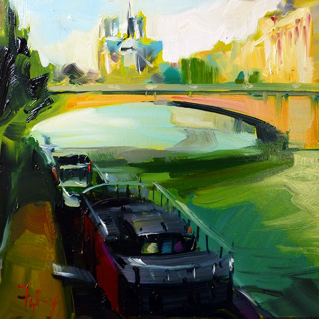 """""""Dia Seine"""" original fine art by Jurij Frey"""