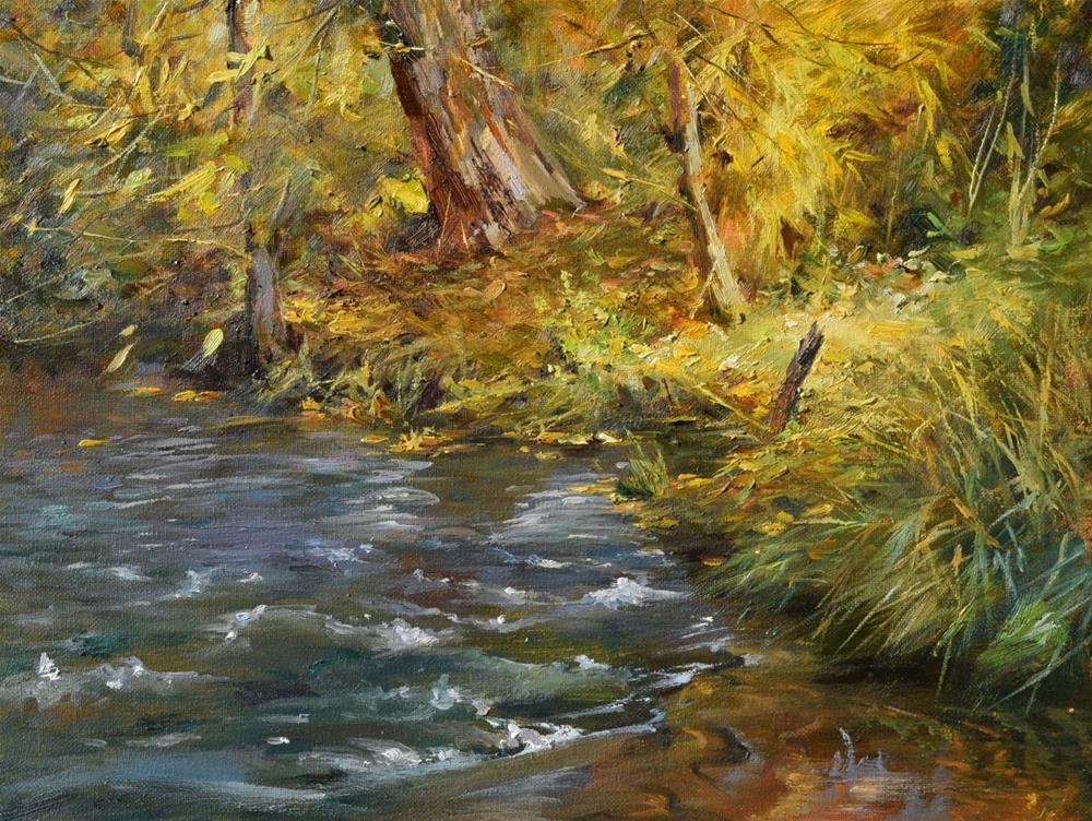 """After the First Rain in Autumn"" original fine art by Kelvin Lei"