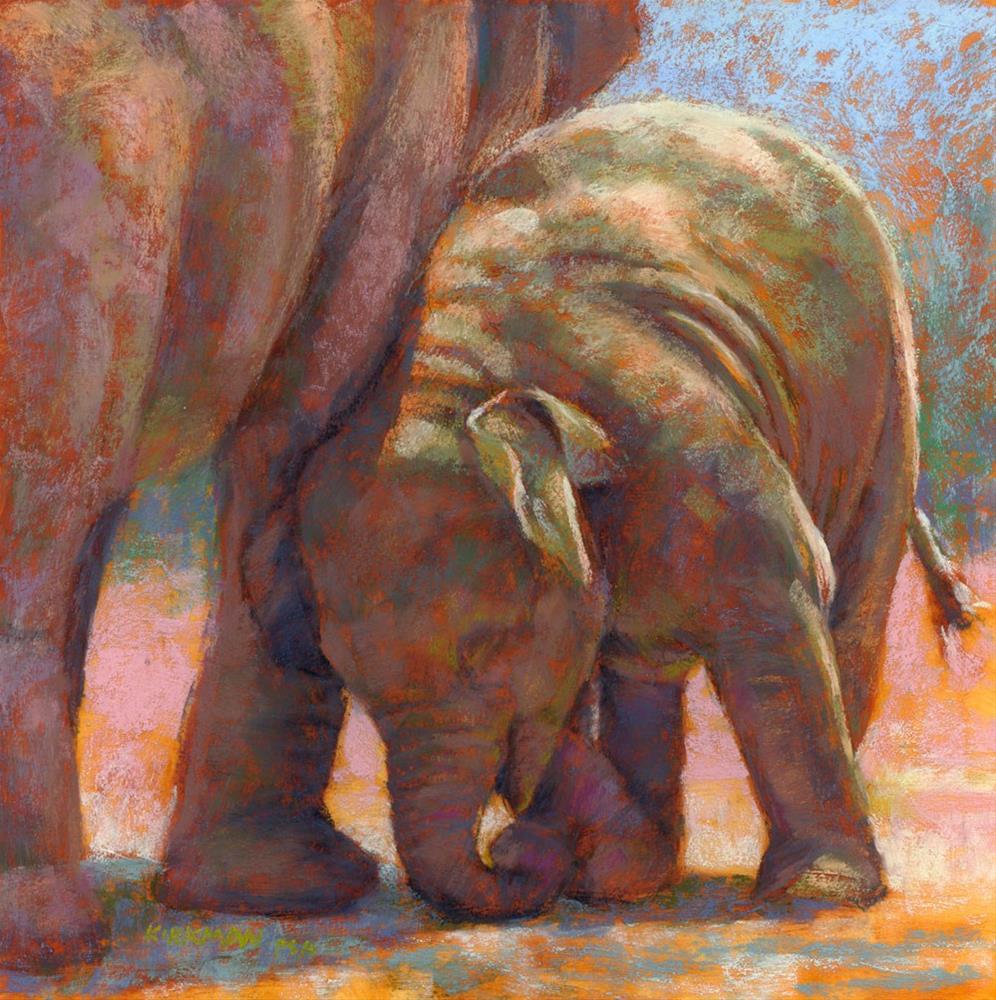 """E is for Elephant"" original fine art by Rita Kirkman"