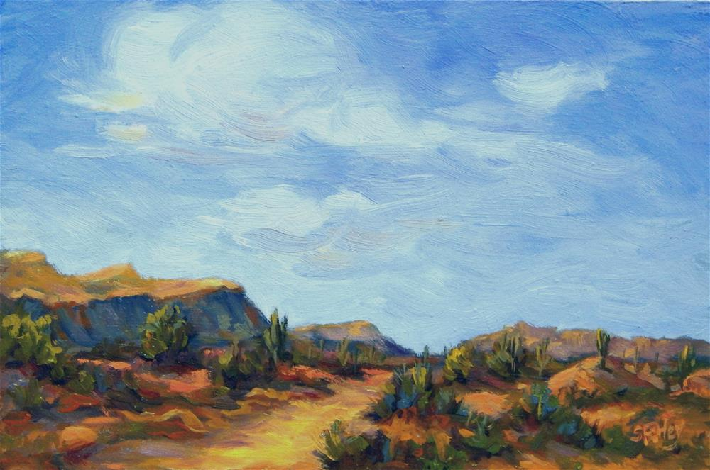 """Western Sky"" original fine art by Sandy Farley"