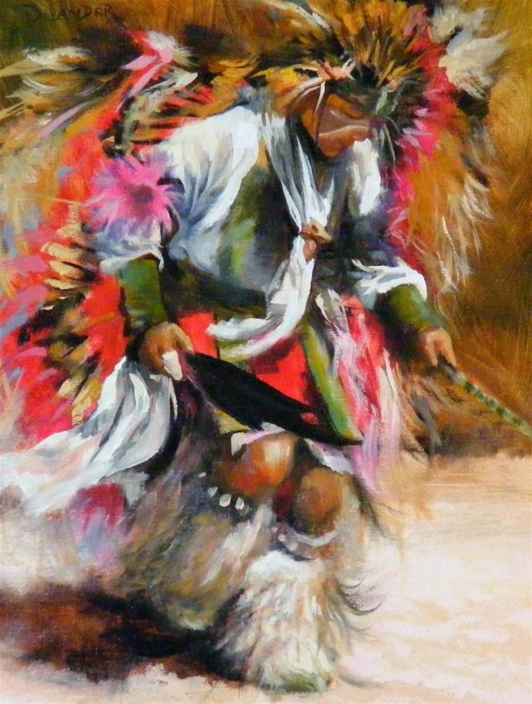 """Prayer Dancing, Figure"" original fine art by Diana Delander"