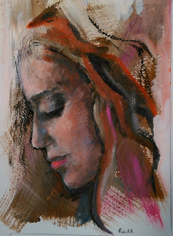 """Mindful"" original fine art by Ann Rudd"