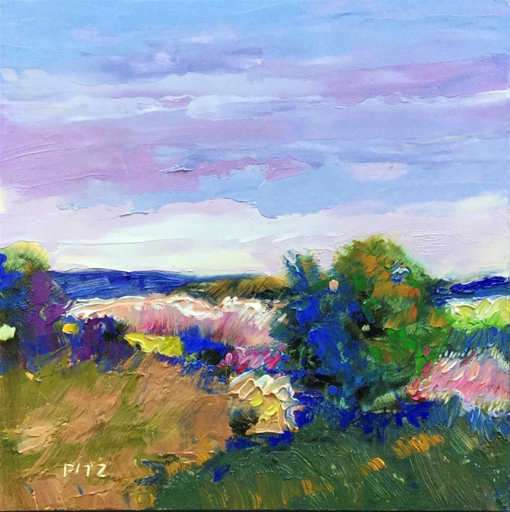 """Impasto Landscape 84"" original fine art by Charlotte Fitzgerald"