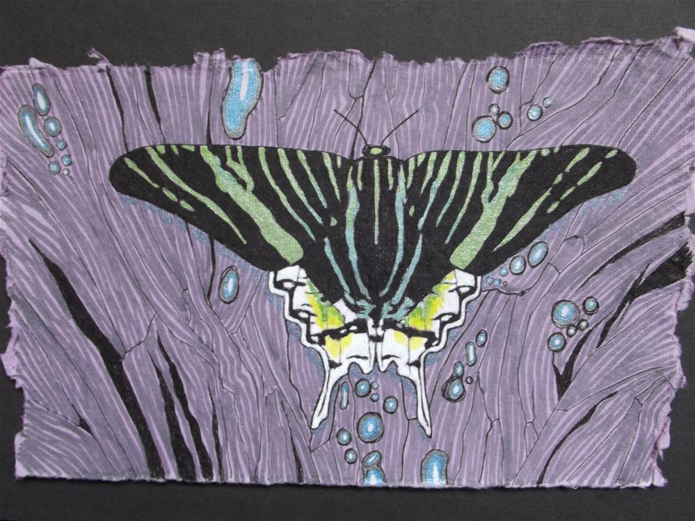 """Green Urania"" original fine art by wanda sigafus"