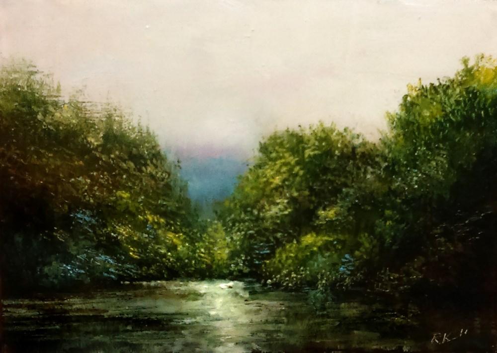 """""""Private Cove"""" original fine art by Bob Kimball"""