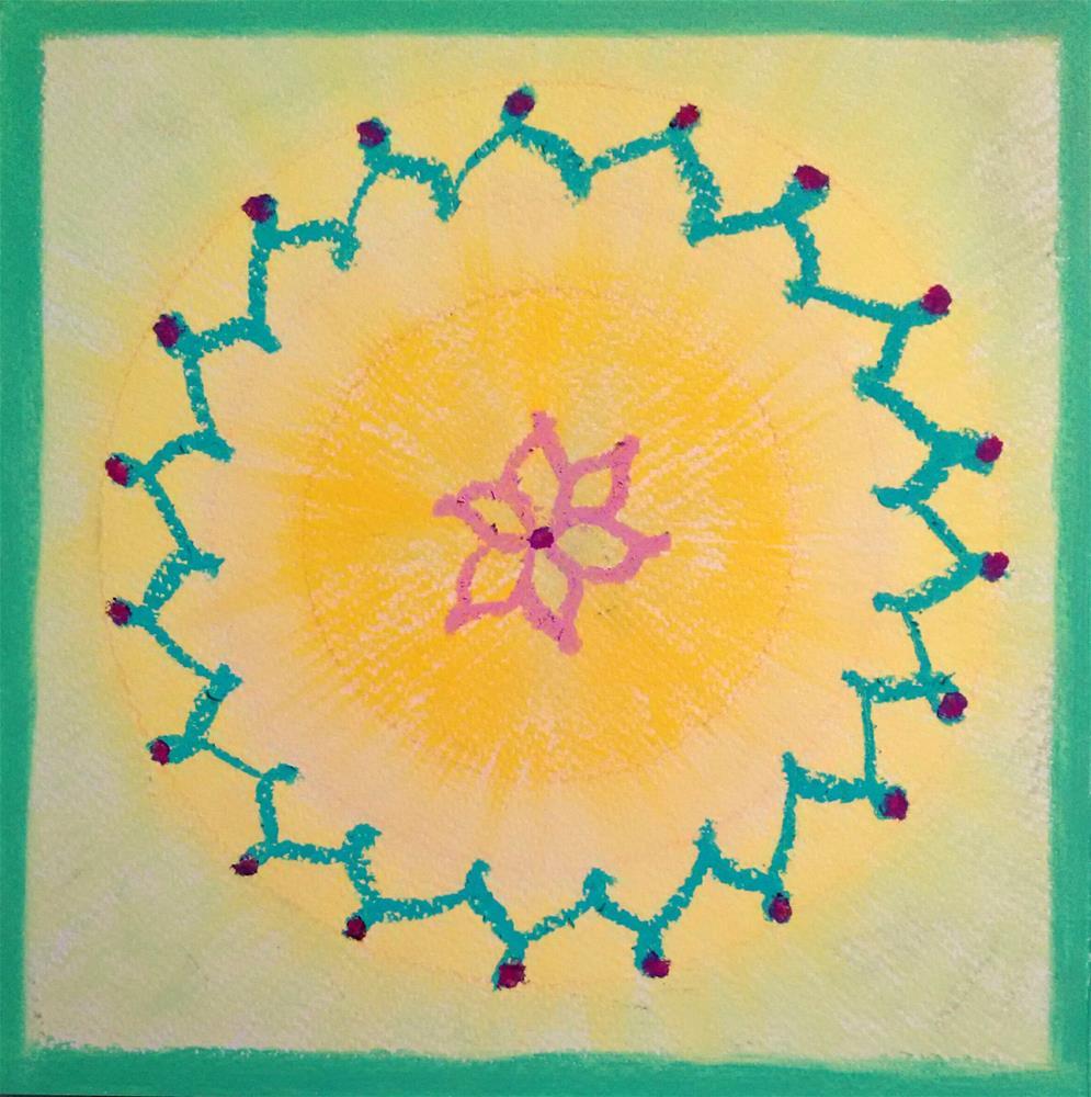 """""""Mandala of Joy"""" original fine art by Adéla Svobodová"""