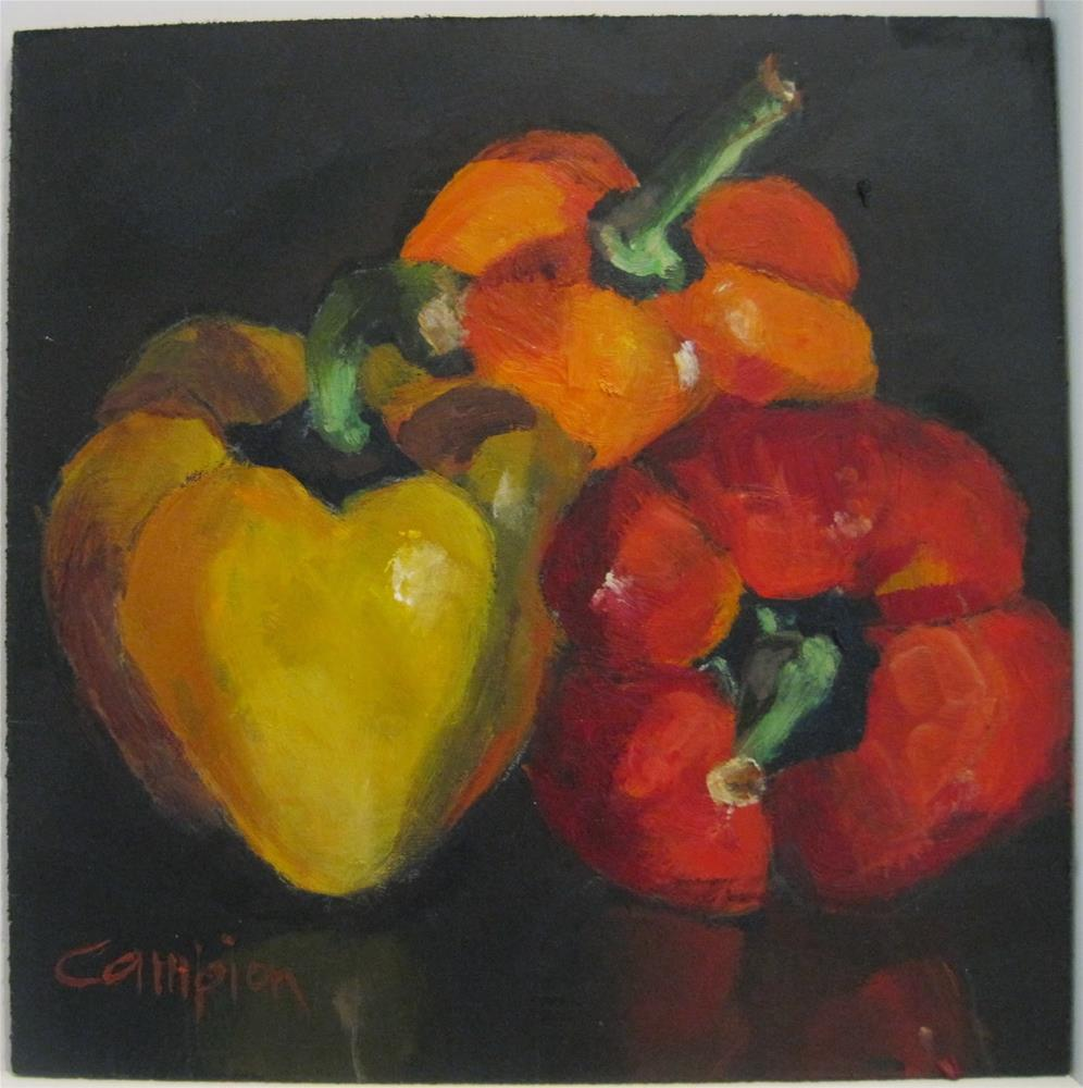 """433 Red Plus Yellow Equals Orange"" original fine art by Diane Campion"