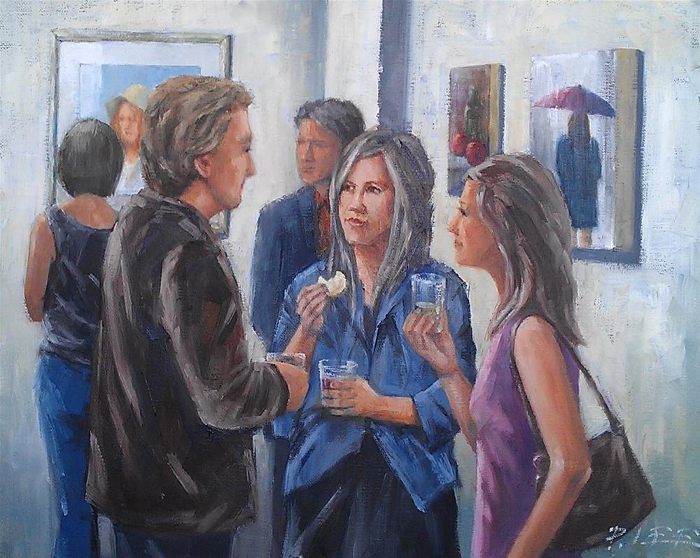 """Opening Reception"" original fine art by Peter Lee"