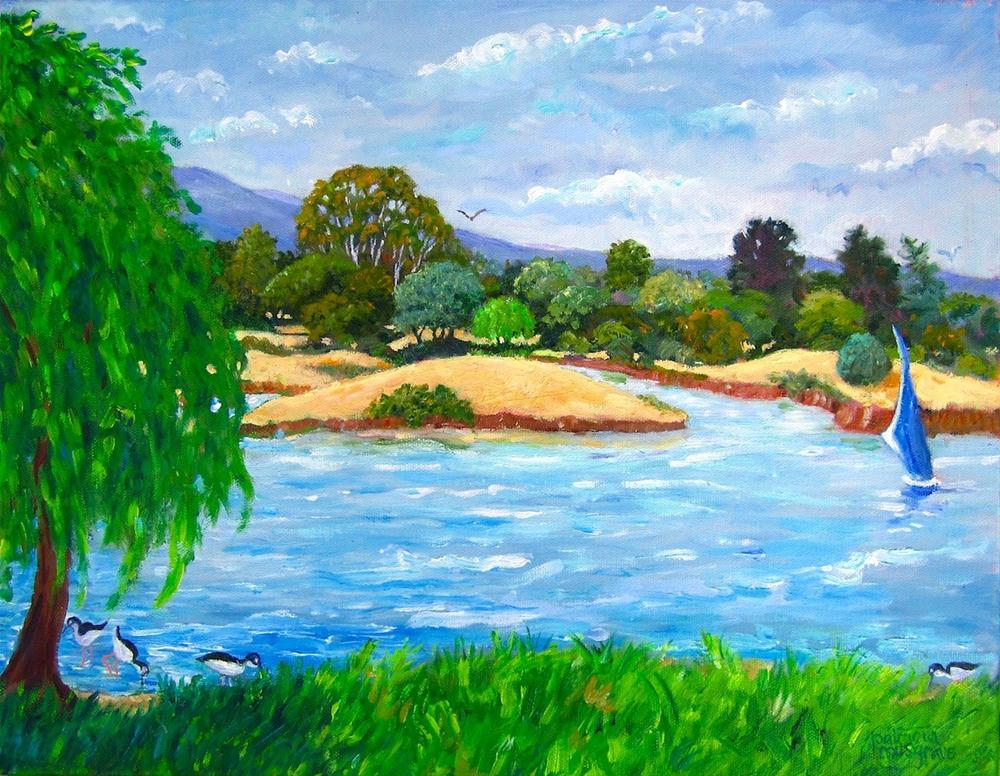 """A Day on the Lake"" original fine art by Patricia Musgrave"