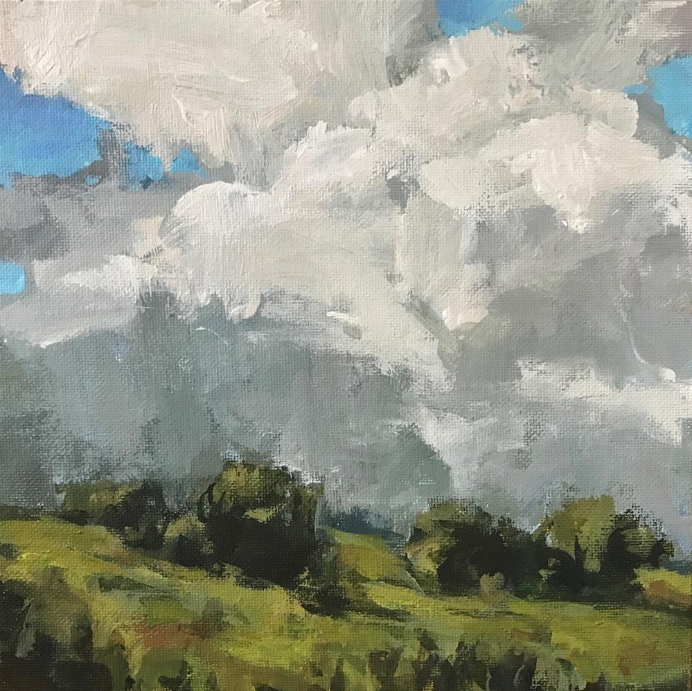 """""""Don't Mind If It Rains"""" original fine art by Shannon Bauer"""