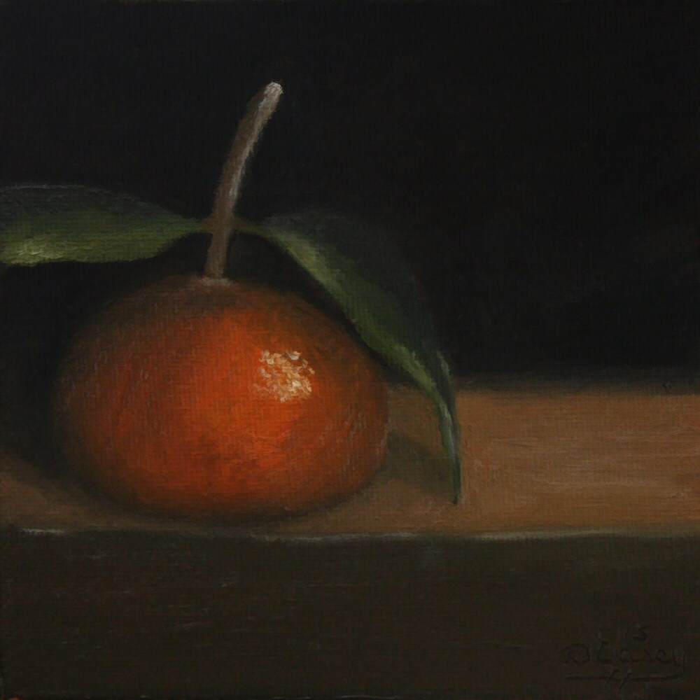 """Kitchen Painting – Tangerine 010"" original fine art by Dave Casey"