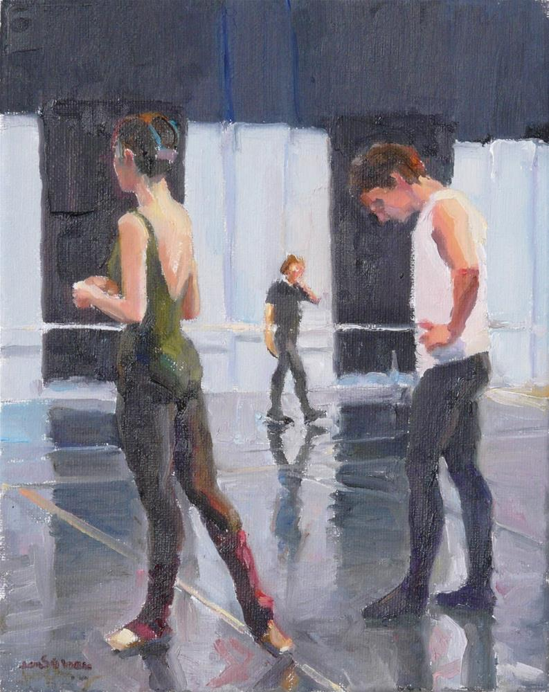 """Let's Try Again,figures,oil on canvas,10x8,price$725"" original fine art by Joy Olney"