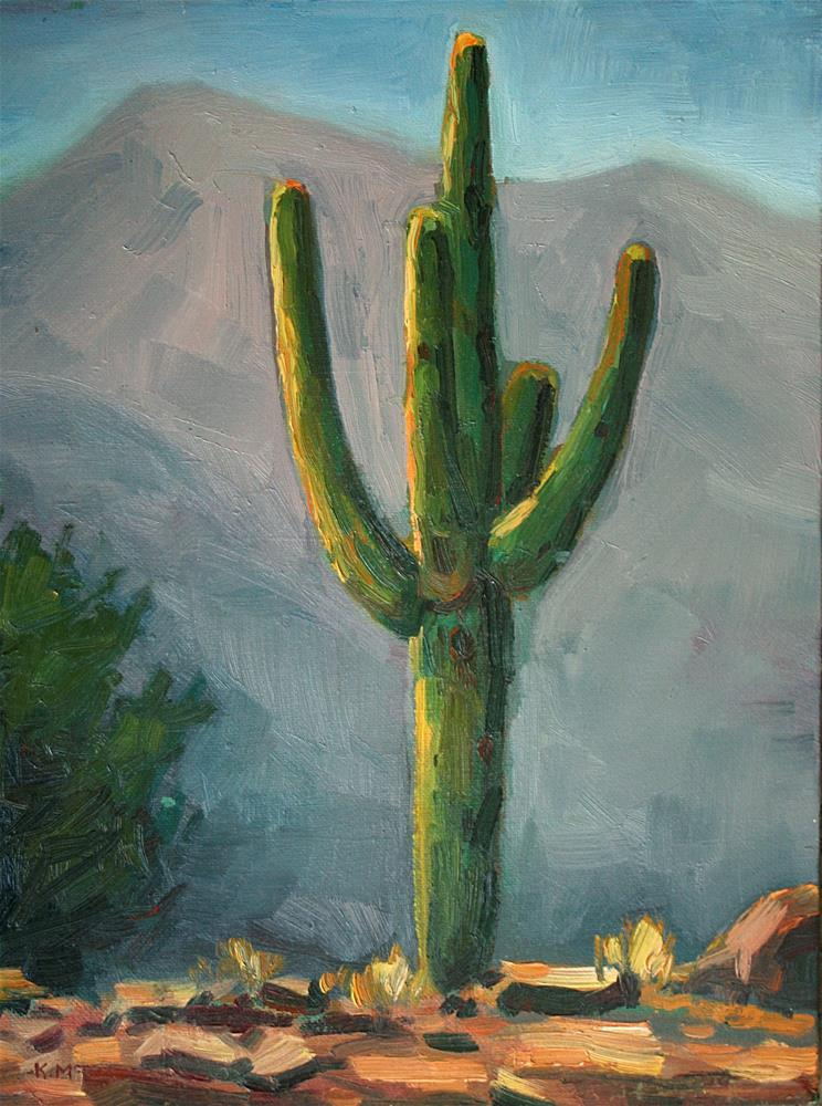 """The Old Man of the Desert"" original fine art by K.R. McCain"