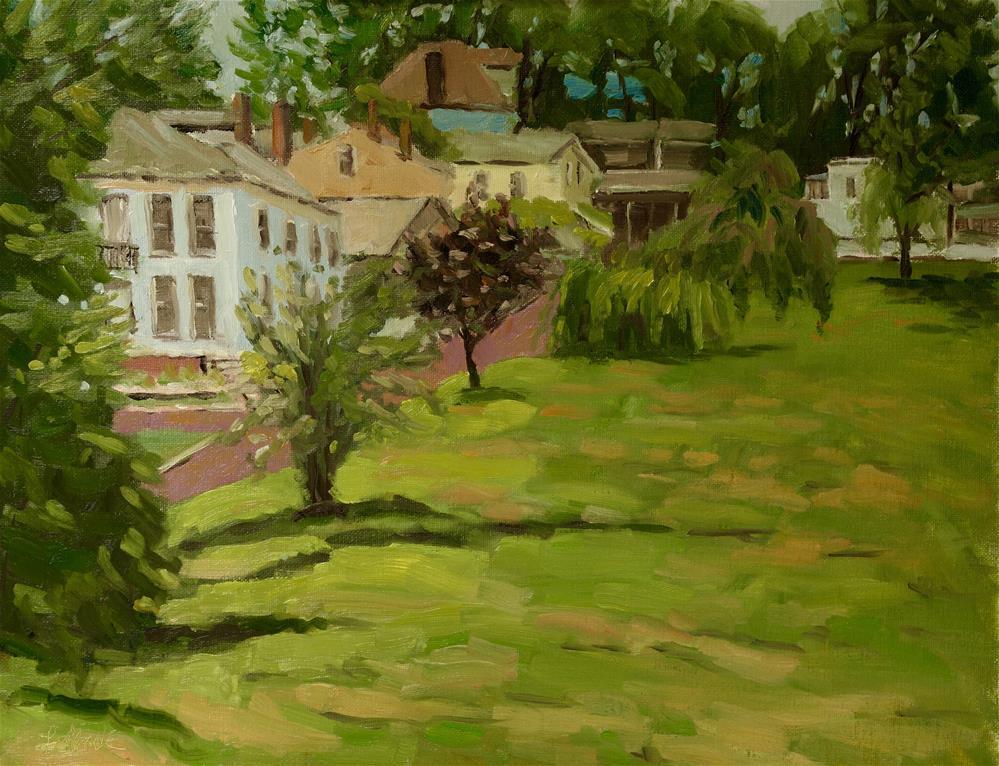 """Alton Park Homes en Plein air"" original fine art by Daniel Fishback"