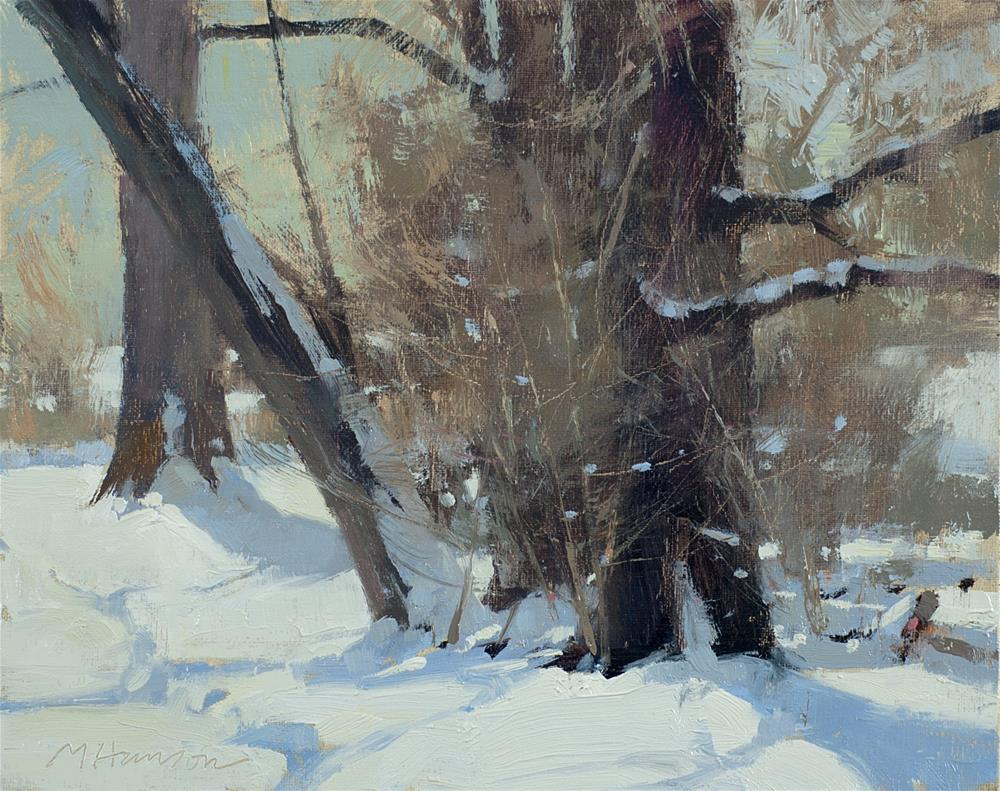 """2-8-2 Roadside Darks"" original fine art by Marc Hanson"