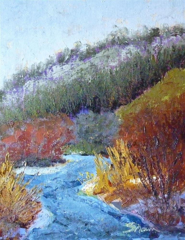 """""""Blue River 2"""" original fine art by Shawn Deitch"""