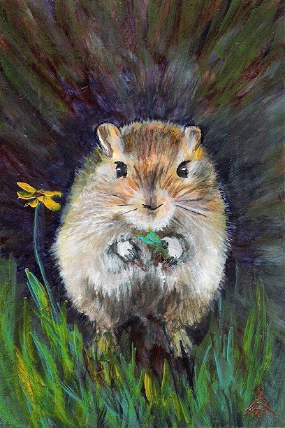 """3148 - Country Mouse - OSWOA Series"" original fine art by Sea Dean"