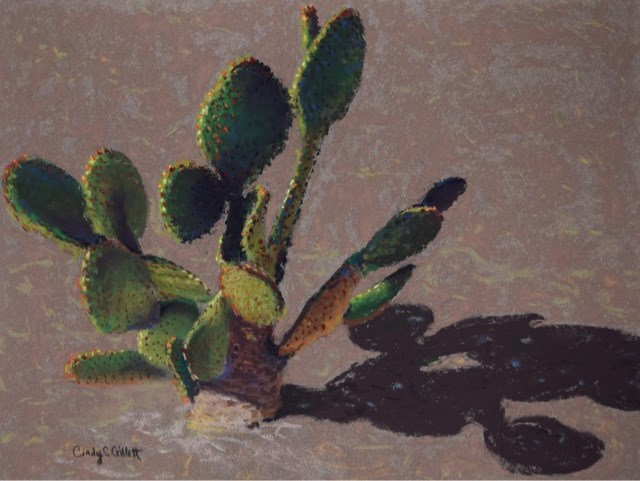 """Prickly Pear Cactus"" original fine art by Cindy Gillett"