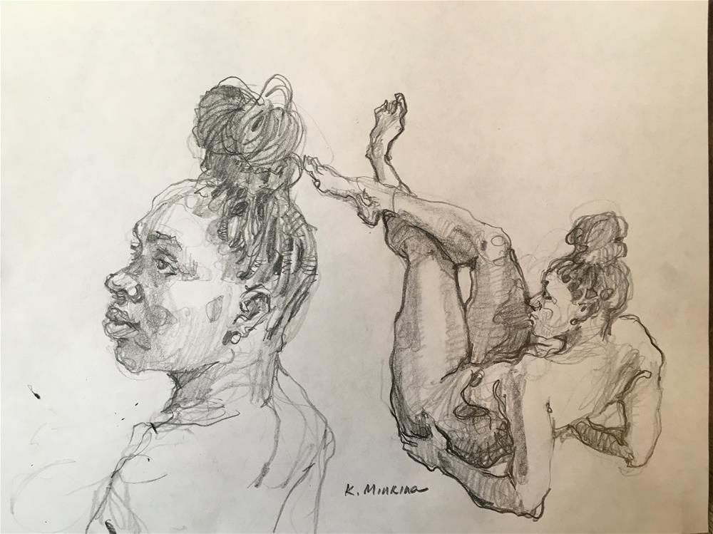 """figuary13"" original fine art by Katya Minkina"