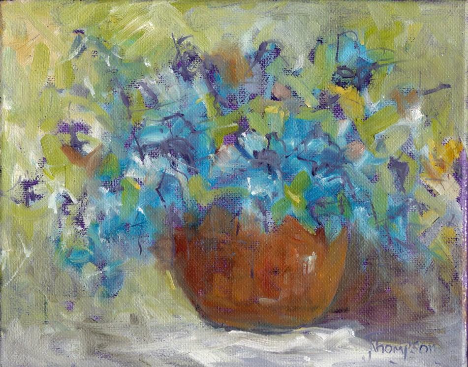 """Blue Daze"" original fine art by Norma Thompson"