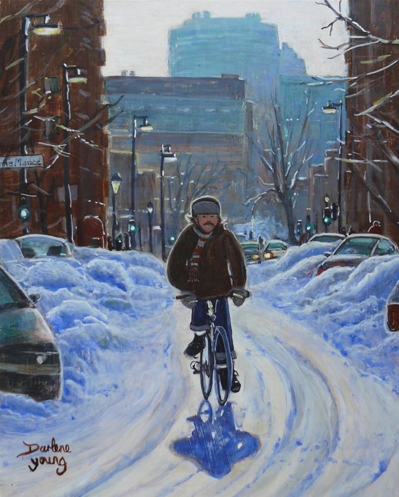 """1154 Fastest Transport"" original fine art by Darlene Young"