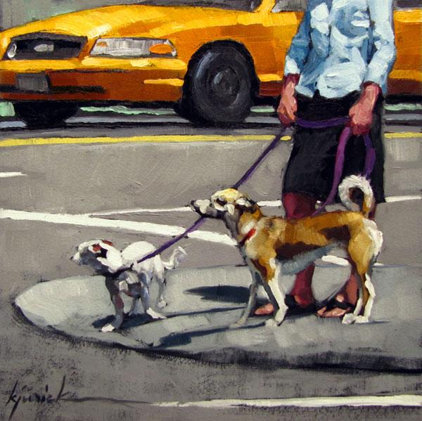 """Walking the Walk"" original fine art by Karin Jurick"