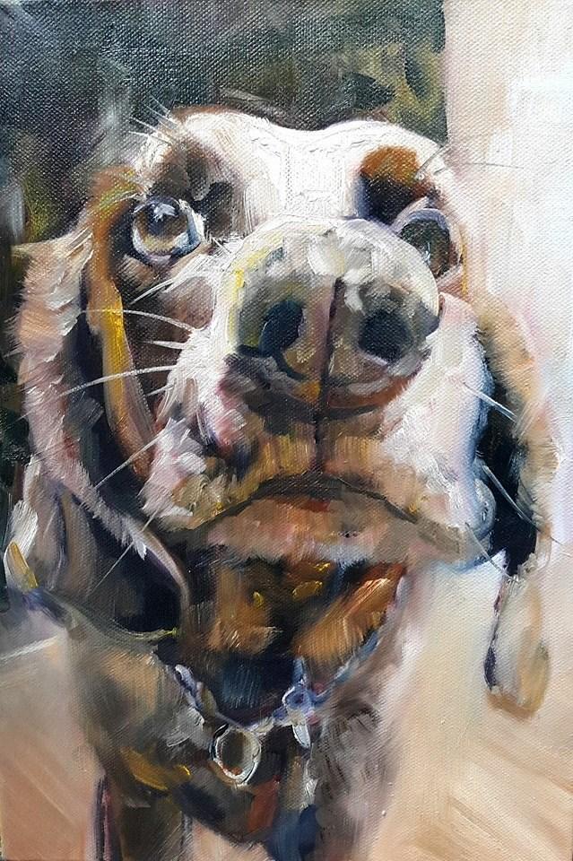 """Looking for love"" original fine art by Rentia Coetzee"