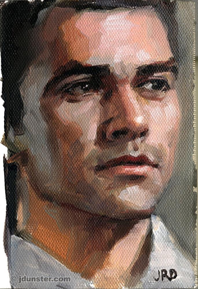 """""""Jorge - Zorn Palette"""" original fine art by J. Dunster"""