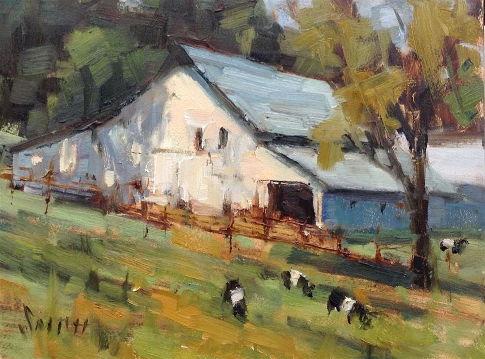 """Pleasant Pastures"" original fine art by Barbie Smith"