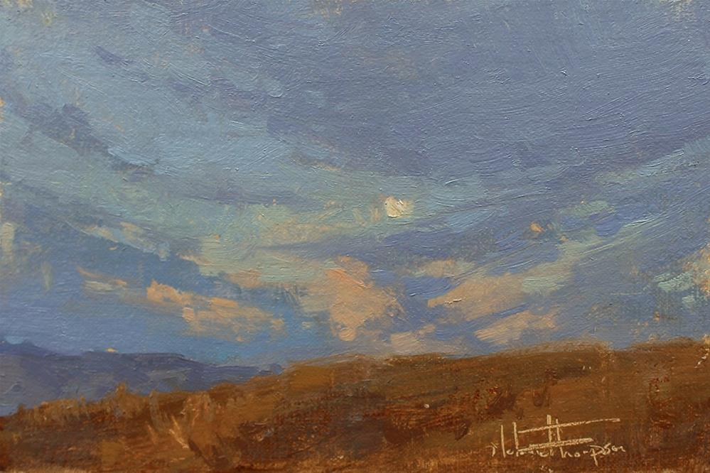 """Moonrise in Wheat Country"" original fine art by Melanie Thompson"