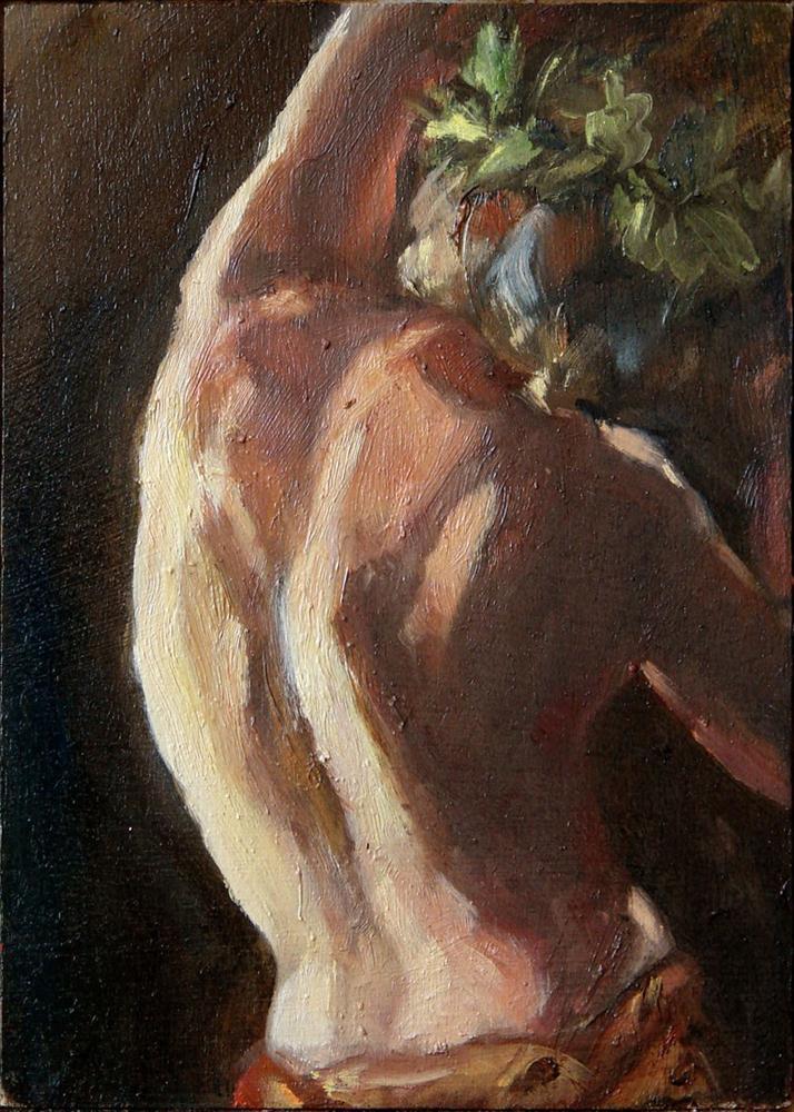 """Young Bacchus"" original fine art by Myriam Kin-Yee"