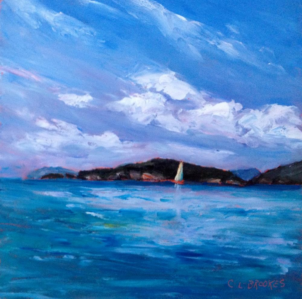 """Cinnamon Sail"" original fine art by Claudia L Brookes"