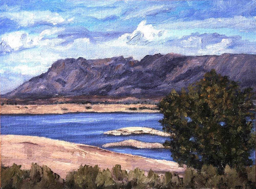 """Elephant Butte Lake"" original fine art by Candi Hogan"