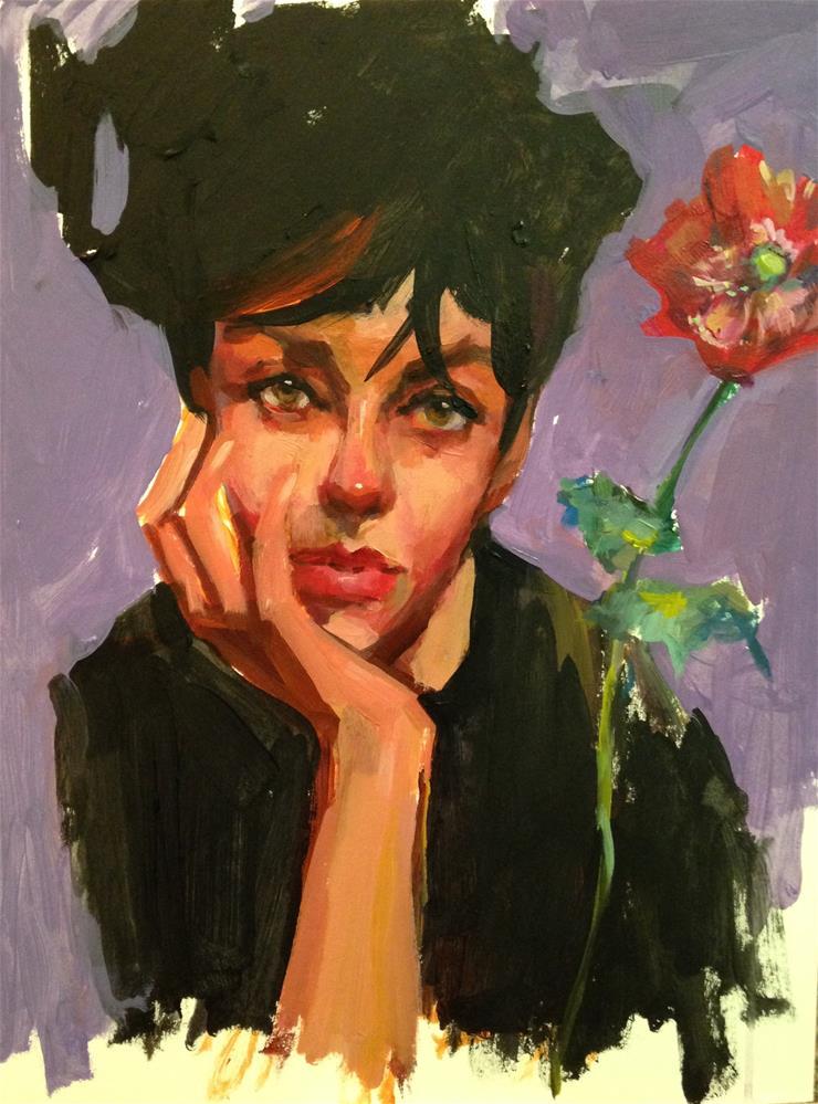 """Daydreamin"" original fine art by Laurie Johnson Lepkowska"