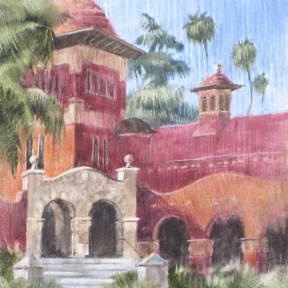 """Smiley Library, Front Entrance"" original fine art by Ginger Pena"