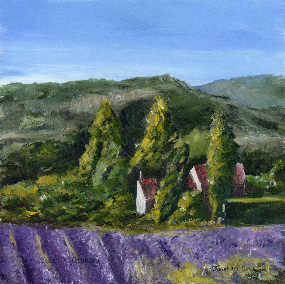 """Lavender Farm"" original fine art by Janet Graham"