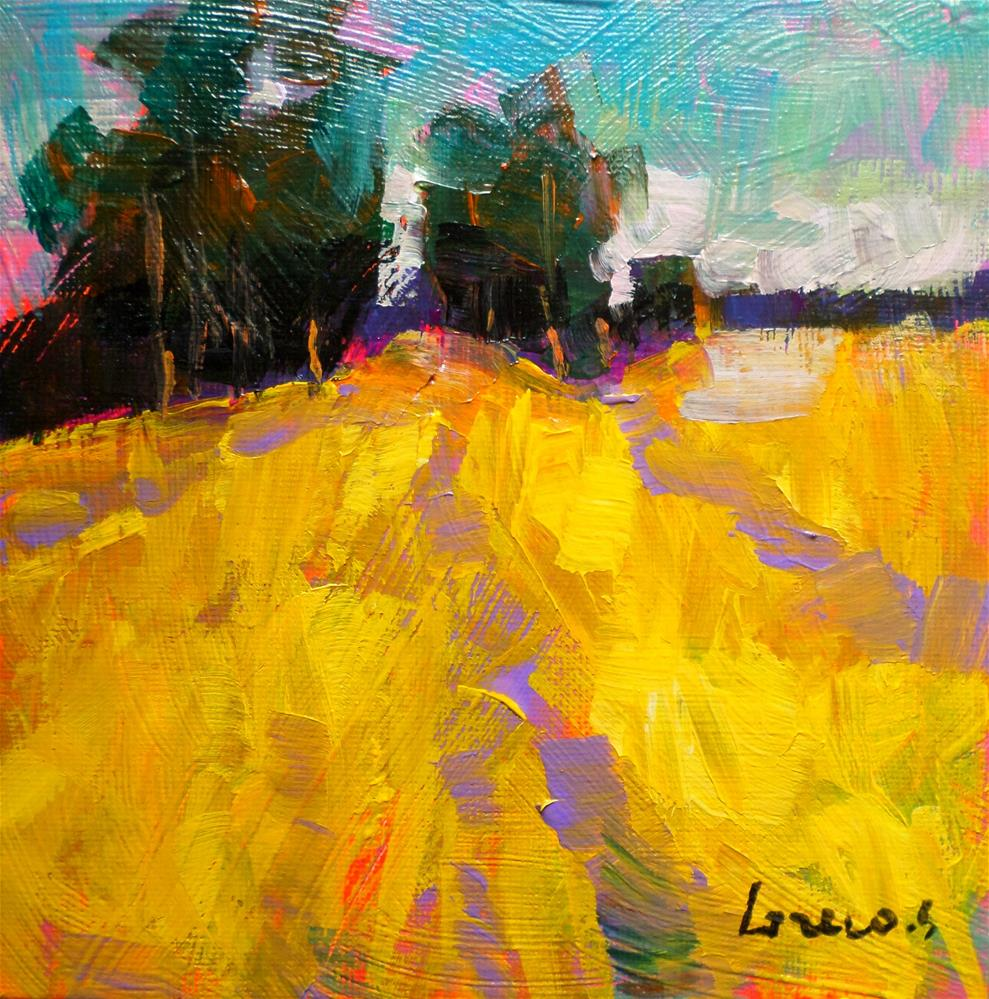 """WHEAT FIELD"" original fine art by salvatore greco"