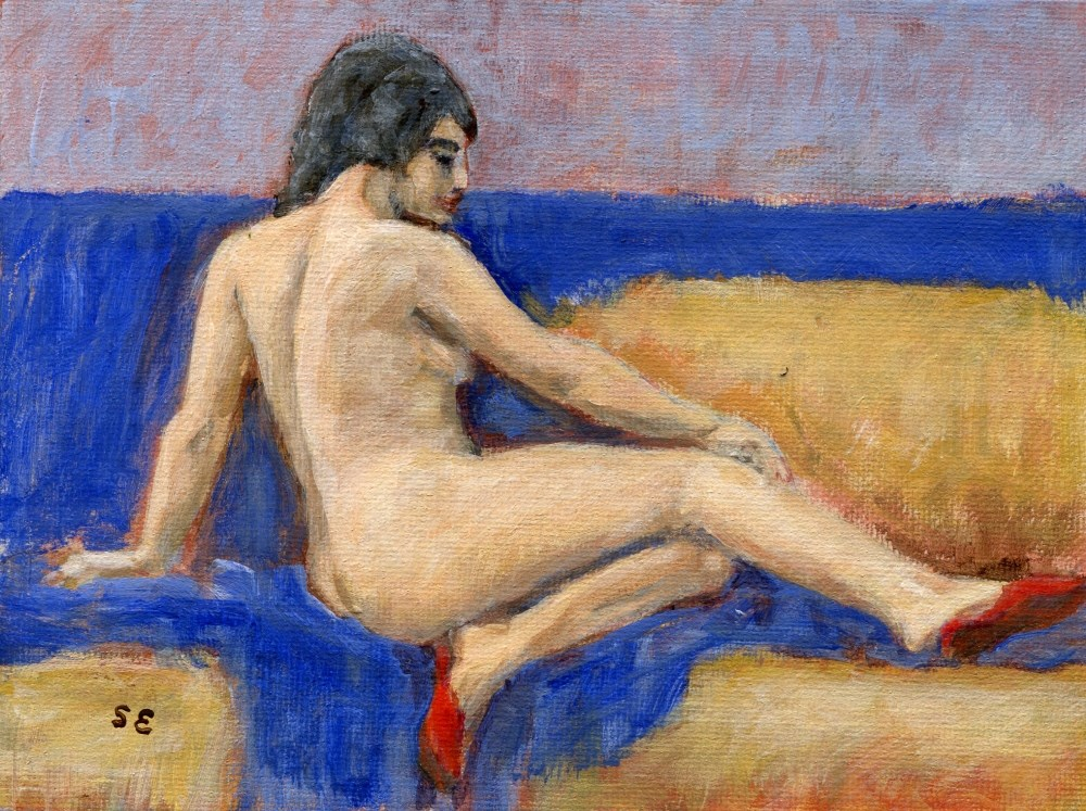 """""""Red Slippers"""" original fine art by Stanley Epperson"""